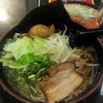 拉麺福徳 - あっさり醤油500円に食べログクーポンで味玉通常100円をトッピング