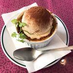 ケパサカフェ - スイートポテトのバニラアイスのせ