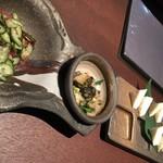 78603670 - 梅くらげきゅうり&つぶ貝わさび&豆腐はんぺん
