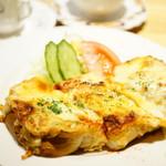 珈琲館 紅鹿舎 - モーニングセット 元祖ピザトーストセット (¥1,200)