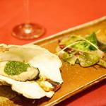 レロエ オヴェスト - 鮮魚のカルパッチョ/サンダニエーレ産クラテッロとル・レクチェ/牡蠣の香草オーブン焼き