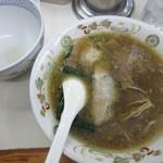 青島食堂 - スープ、丁度よく♪