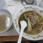 青島食堂 - 割りスープを戴く