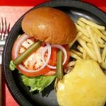 アールダイナー - チーズバーガー (バーガー袋が付いてきます)