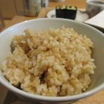 リセルキッチン - 御膳のご飯は雑穀米か玄米が選べましたが私は玄米ご飯を選んでみました。