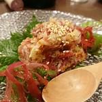 旬菜ダイニング 新 - 馬刺しのナメロウ