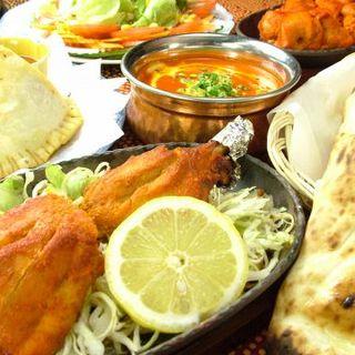 インド料理の食べ飲み放題コース(90分)
