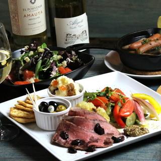 ◆素材を活かしたスペイン料理◆シェフ厳選の新鮮食材たっぷり♪