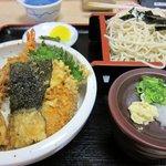 Kiyabu - 「天丼」「ざる蕎麦」のセット