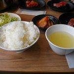 じゅうじゅうカルビ - ご飯のセット390円