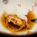 日本橋 蕎ノ字 - 海老の頭は天汁と大根おろしで