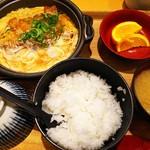 釜戸ごはん さち福や - 豚カツ手鍋玉子とじ定食