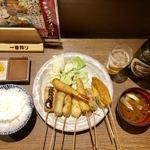 串揚げ処 味串 - 串揚げ10本定食