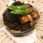 二毛作 - 賀茂茄子のそぼろ味噌焼き