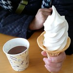 旭山動物園中央食堂 - 料理写真:北海道ソフトとホットココア