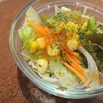 カウボーイカレー - ランチのサラダ