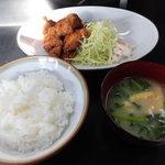 お食事処 さと - 鶏唐あげ(定食)