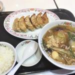 餃子の王将 - 171202土 埼玉 王将戸田公園五差路店 しょうがラーメンセット