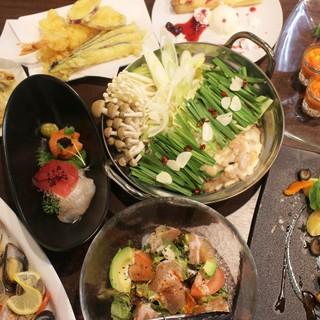 モツと鶏白湯のWコラーゲン鍋コース【飲み放題3時間付き】