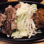 ぶりあん - 本日のステーキ、タンバーグ(牛タンハンバーグ)