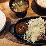 ぶりあん - 麦ご飯、お味噌汁、サラダが付いて1200円