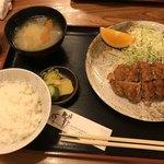とんき - 料理写真:ヒレカツ定食1500円    美味♡