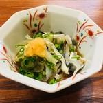 寿司 しながわ 葵 - ふぐ皮ポン酢。