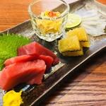 寿司 しながわ 葵 - お造り盛り合わせ。