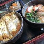 かとう - 料理写真:一膳定食 カツ丼&きしめん