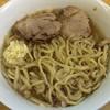 ラーメン二郎 - 料理写真:ラーメン 750円 麺半分・ヤサイ抜き・ニンニクで