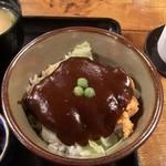 味司 野村 - 玉子とじカツ丼とドミグラスソースカツ丼のセット(孫膳 ロース)