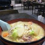 食堂ニューミサ - 豚汁ラーメン800¥ ボリュームタップリいつも無性に食べたくなる