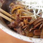 麺武 はちまき屋 - サイコロ叉焼は味濃い目