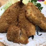 78647473 - 魚河岸定食のフライ3種