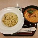 レストラン三宝 - 料理写真:チャーシュー炒飯&担々めんセット(ドリンク付き)961円