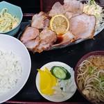 78649649 - 焼き豚定食850円