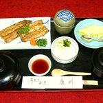 うなぎ割烹 康川 - 白焼定食 松