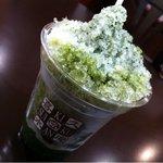 お茶の井ヶ田 喜久水庵 - 抹茶かき氷ミルクがけ  250円