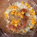 タコベル - セットのサラダ(プラス50円でポテトから変更できます)☆型のチーズがかわいい♪