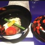 野嵯和 - 鯛と鱈の白子の椀物