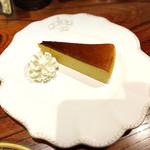 珈琲屋 瑠宇称 - モカ味のチーズケーキ