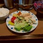 喫茶サイフォン - ランチ地鶏クリーム煮