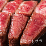 鉄板焼 曉 - A5ランクの上質な甘みと旨み『高森和牛ステーキ』