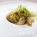アコルドゥ - 海そのものを食べる『三輪山本の海藻麺 磯の香りとアワビ』