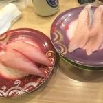 78659449 - 171213水 北海道 回転寿しトリトン円山店 寒ブリ、あぶらにしん?