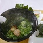 あびさぁべ - 海鮮ラーメン650円+おにぎりセット50円