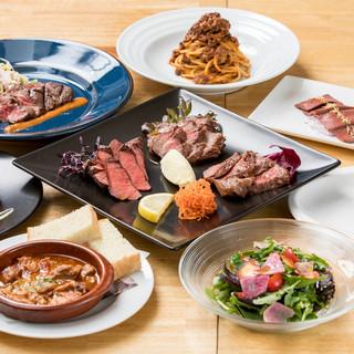 お肉尽くしのコース料理が人気です!