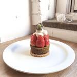 カフェ ウォール - 苺とピスタチオのマフィンタルト