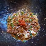 汁なし担々麺 階杉 - 残った坦々肉に・・・