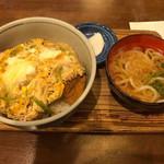 78668043 - カツ丼 (小うどん付)